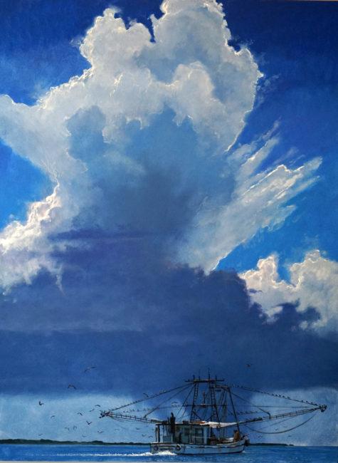 Shrimper Under Summer Sky 36x48