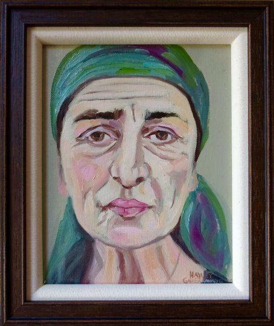 Aunt Sally 11x13 framed Oil on Canvas $750