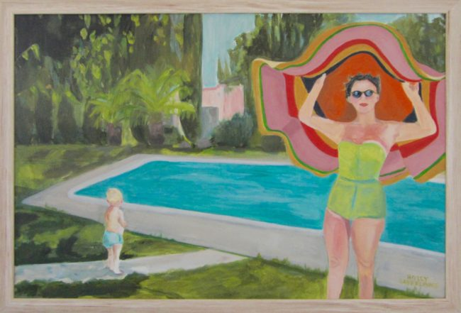 Big Ass Hat 26x38 Oil on Canvas $2500