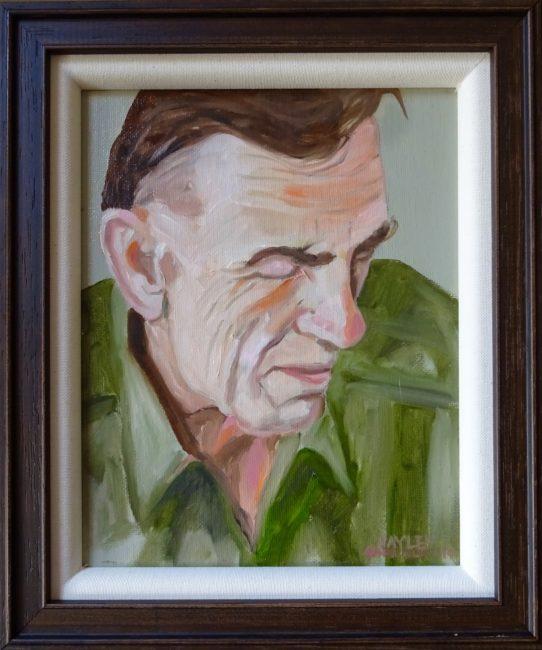 Mr Bob 11x13 framed Oil on Canvas $750