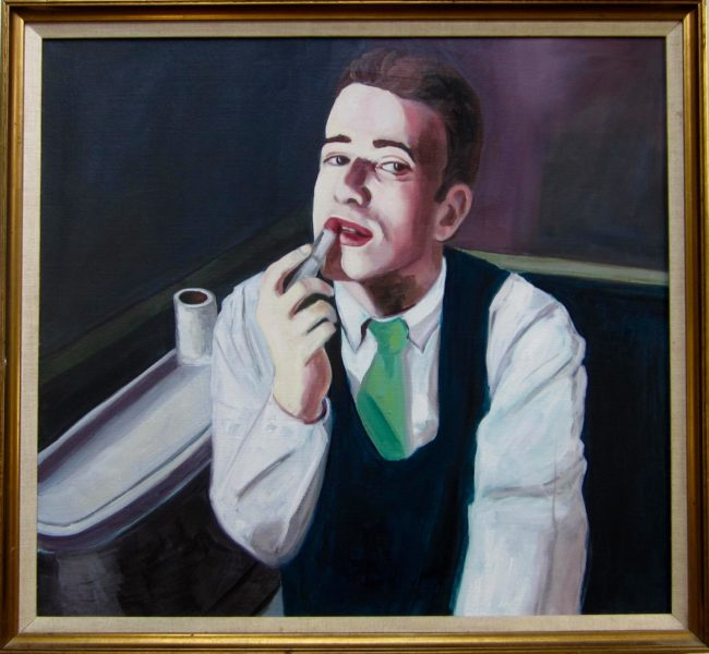 Southern Vice 24.5x26 Framed Oil on Canvas $2800