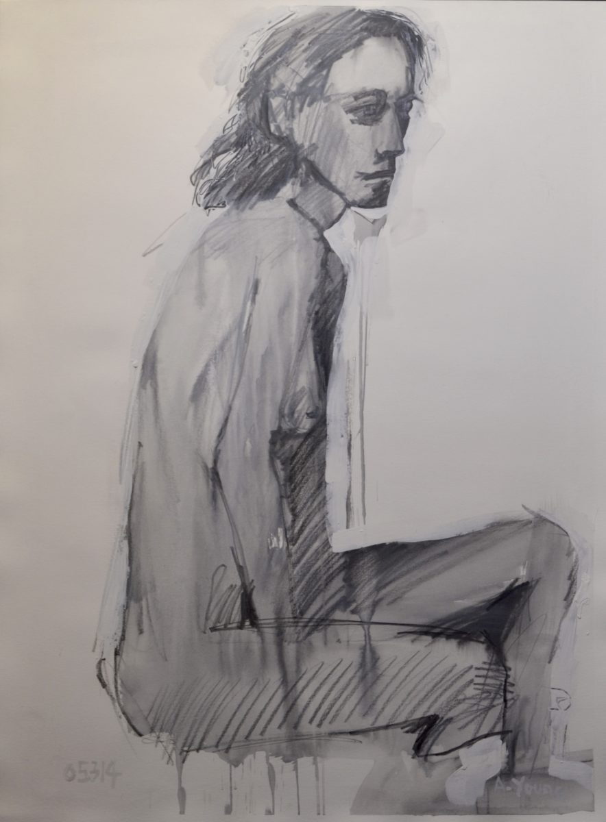 Seated Figure   signed      05314 A.YOUNG