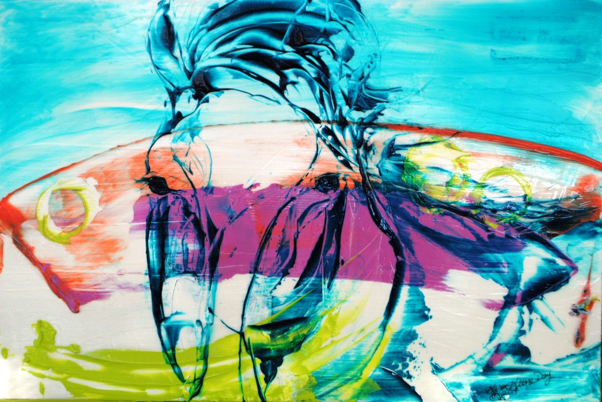 Moments with Wild Horses  #201 David wild stallion 24x36 @2014  24x36 Sp Crk Bas Dis Val for Mag Ad